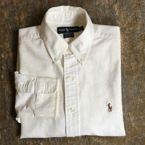 Ralph Lauren Yarmouth White Cotton Oxford Shirt